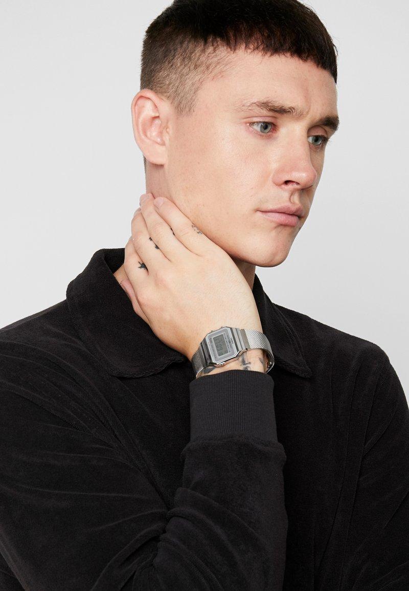 Casio - Digital watch - silver-coloured