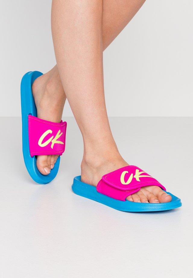 SLIDE - Pantofle - diva blue
