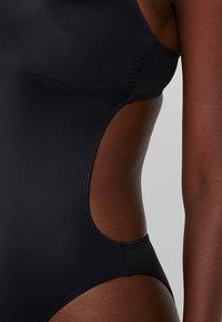 Calvin Klein Swimwear - LOGO OPEN CUT ONE PIECE - Maillot de bain - black - 5