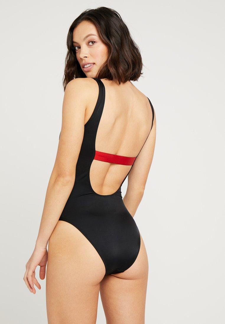 Scoop Klein Core Icon Calvin Bagno Da Back PieceCostume Black One Swimwear nO0XwkN8P
