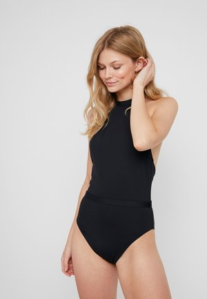 HIGH NECK ONE PIECE - Plavky - black