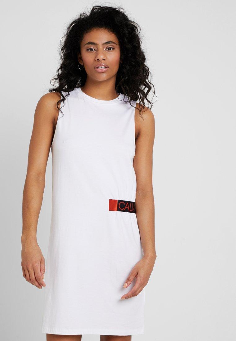 Calvin Klein Swimwear - CORE ICON MUSCLE TANK DRESS - Strandaccessoire - white