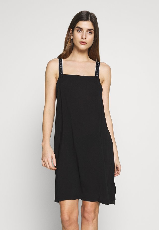 CORE MONO TAPE DRESS - Akcesoria plażowe - black