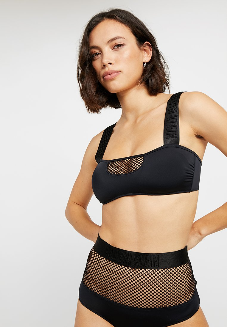 Calvin Klein Swimwear - INTENSE POWER HIGH WAIST - Spodní díl bikin - black