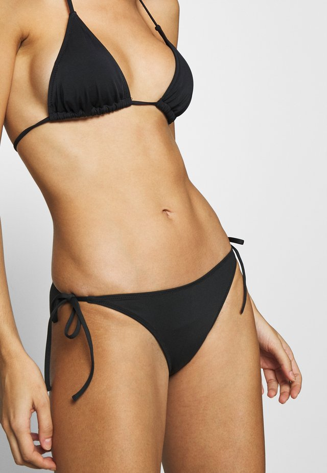STRING SIDE TIE - Bikini bottoms - black