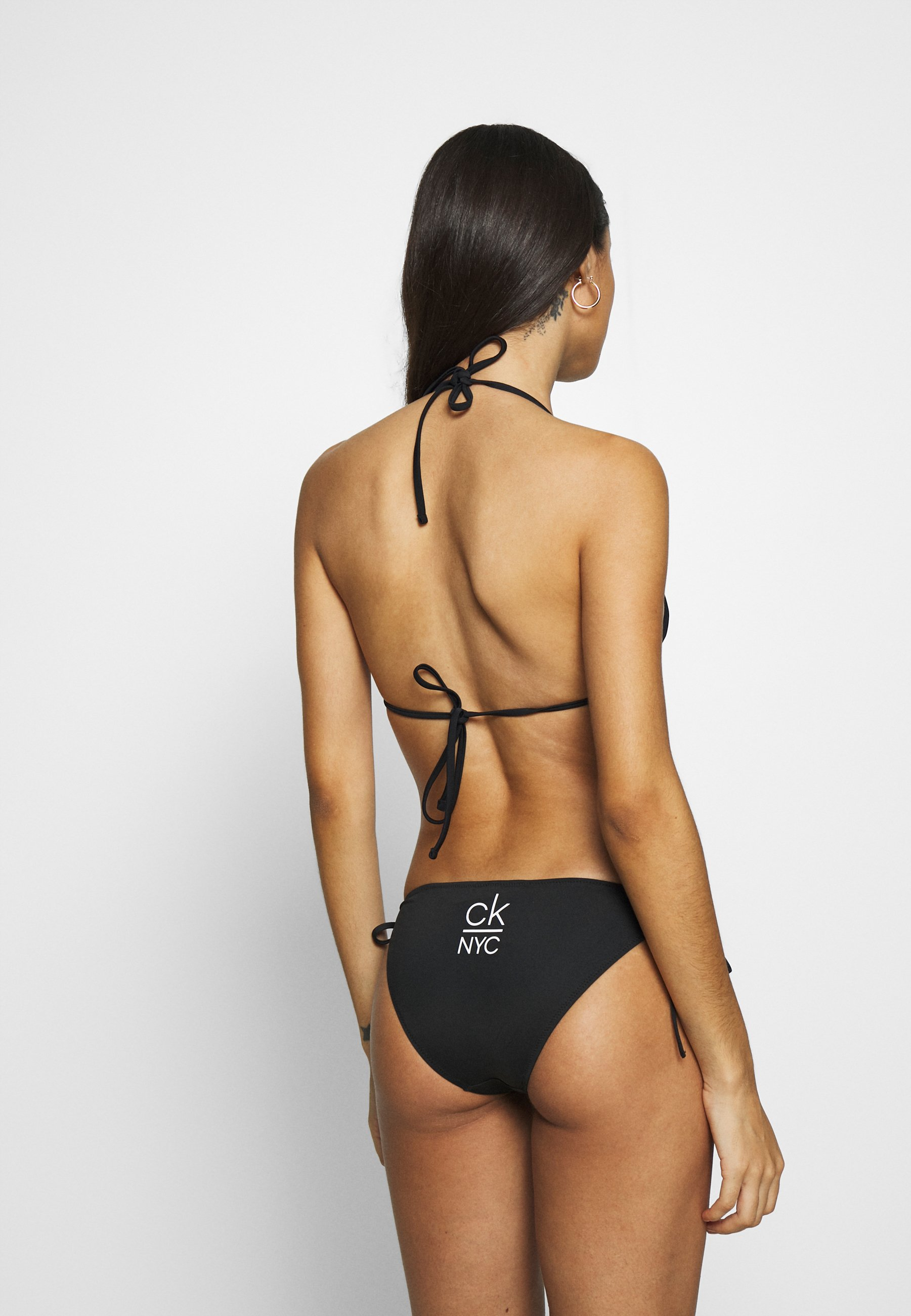 Calvin Klein Swimwear String Side Tie - Bikiniunderdel Black