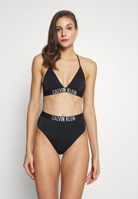 Calvin Klein Swimwear - INTENSE POWER HIGH WAIST CHEEKY - Spodní díl bikin - black - 1