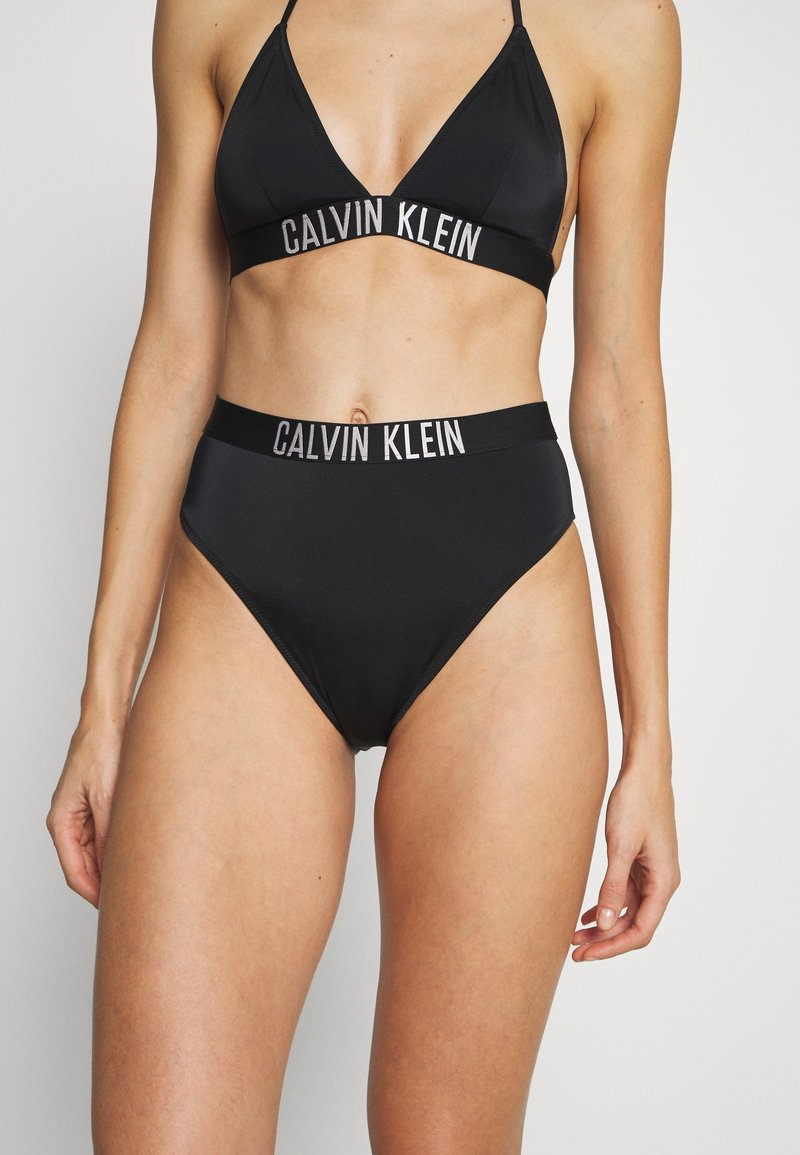 Calvin Klein Swimwear - INTENSE POWER HIGH WAIST CHEEKY - Spodní díl bikin - black