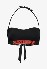 Calvin Klein Swimwear - CORE ICON BANDEAU - Bikini top - black - 4