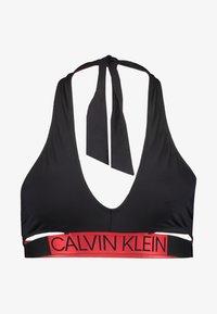 Calvin Klein Swimwear - CORE ICON CROSS OVER BRALETTE - Bikini top - black - 3