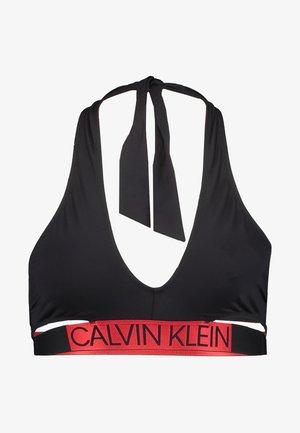 CORE ICON CROSS OVER BRALETTE - Bikini top - black