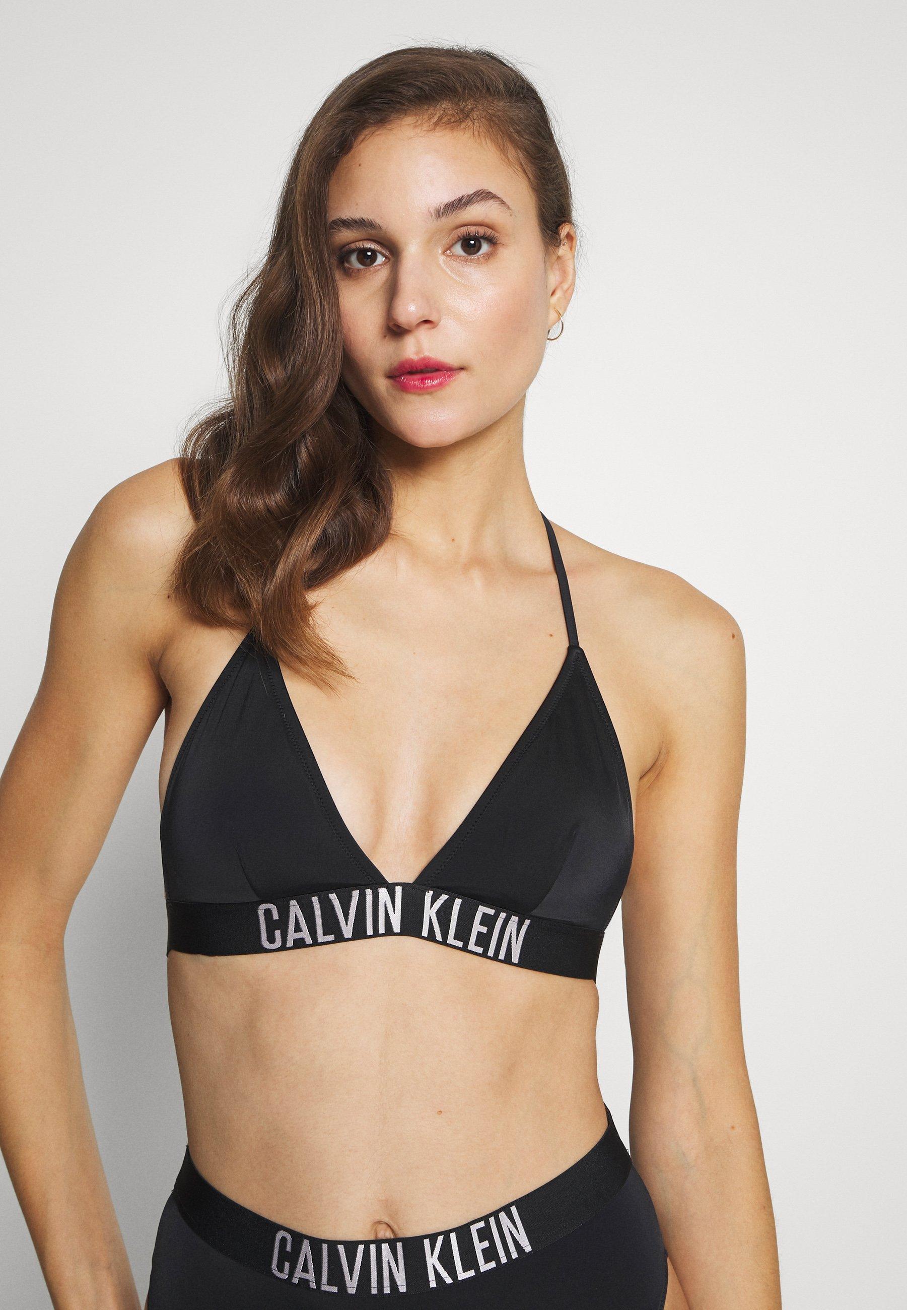 Calvin Klein Swimwear INTENSE POWER FIXED TRIANGLE - Góra od bikini - black