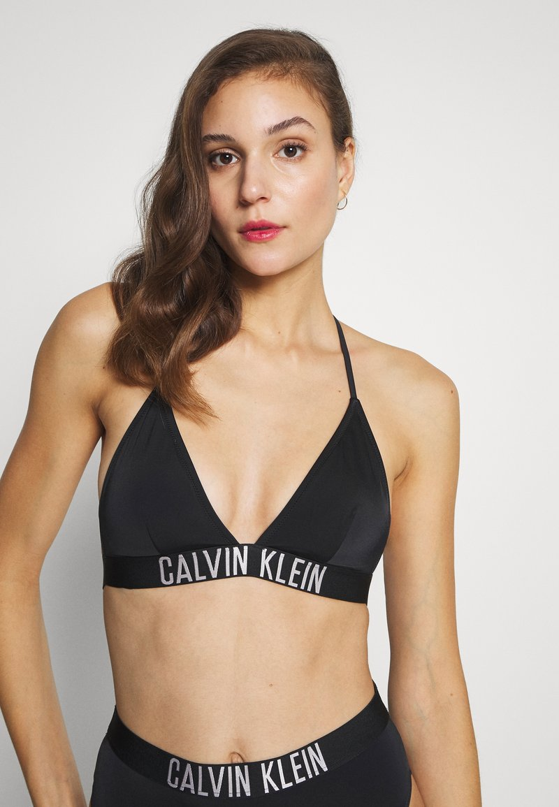 Calvin Klein Swimwear - INTENSE POWER FIXED TRIANGLE - Bikinitop - black