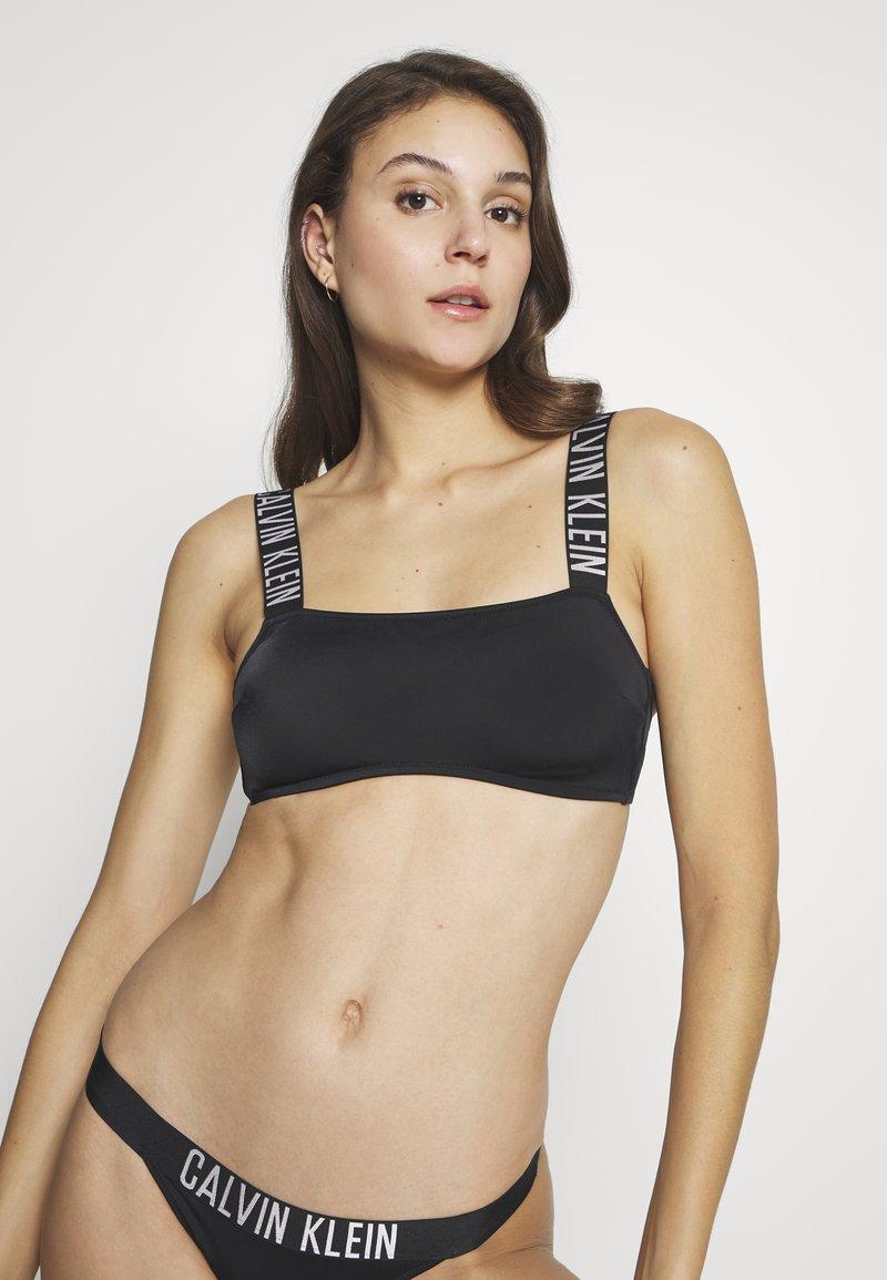 Calvin Klein Swimwear - INTENSE POWER BANDEAU - Bikinitop - black