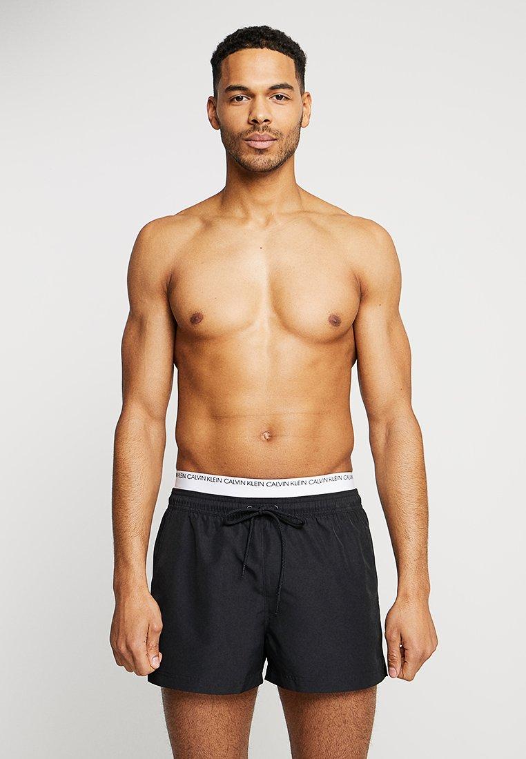 Calvin Klein Swimwear - DOUBLE WAISTBAND - Short de bain - black