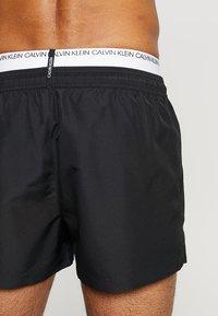 Calvin Klein Swimwear - DOUBLE WAISTBAND - Short de bain - black - 1