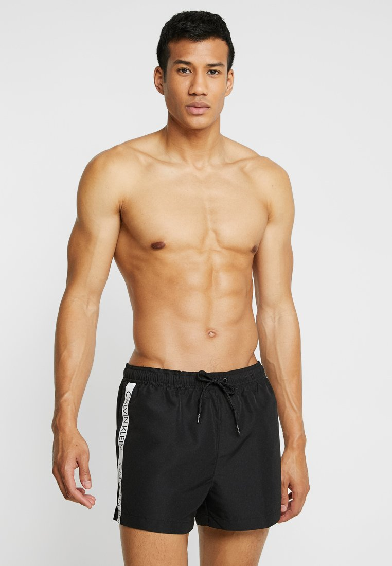 Calvin Klein Swimwear - SHORT DRAWSTRING - Swimming shorts - black