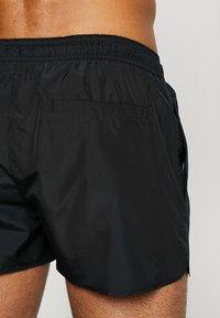 Calvin Klein Swimwear - SHORT RUNNER LOGO - Plavky - black - 1