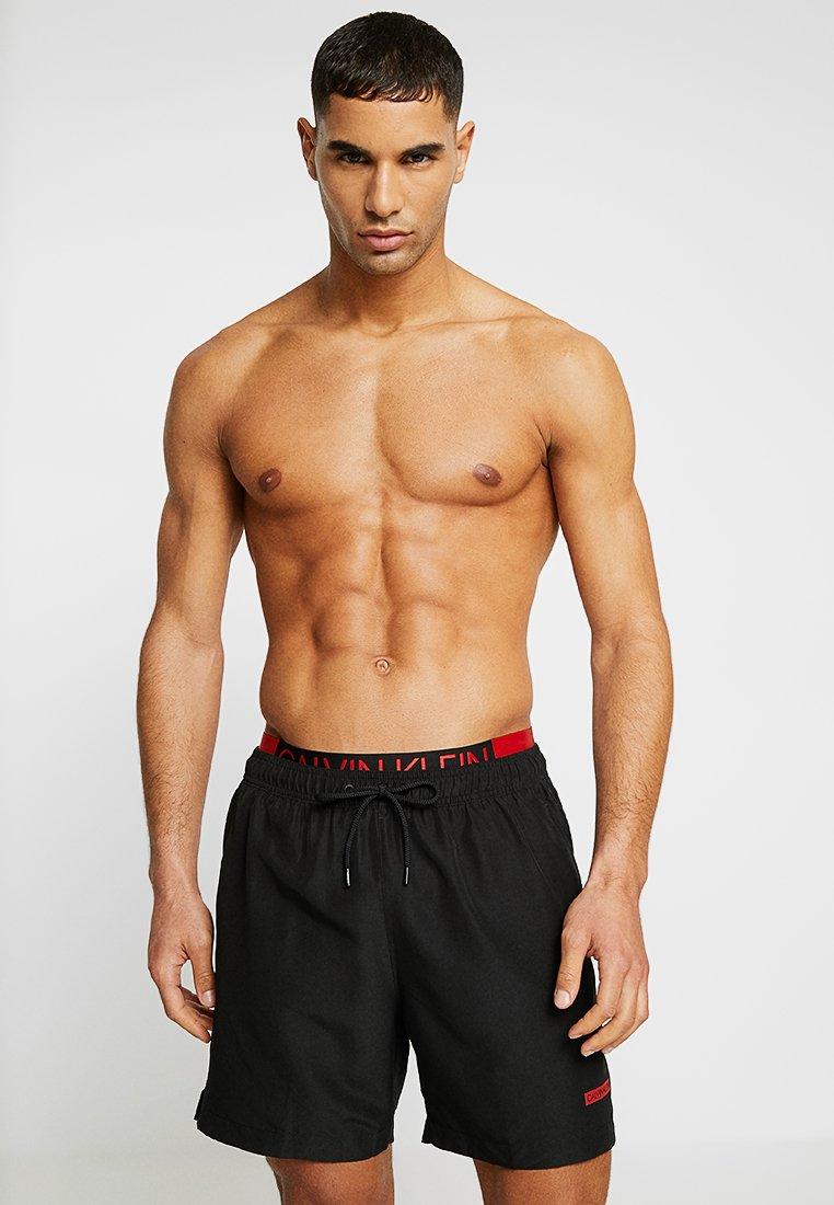 Calvin Klein Swimwear - MEDIUM DOUBLE WAISTBAND - Plavky - black