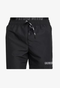 Calvin Klein Swimwear - MEDIUM DOUBLE WAISTBAND - Swimming shorts - black - 3
