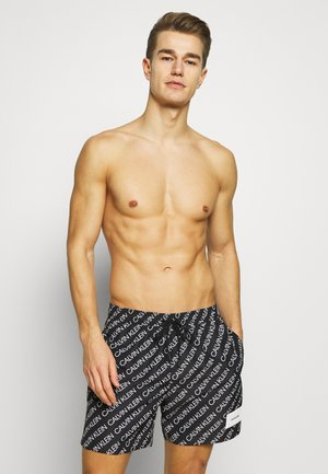 MEDIUM DRAWSTRING PRINT - Plavky - black