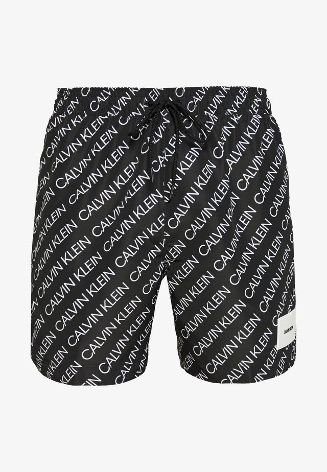 MEDIUM DRAWSTRING PRINT - Badeshorts - black