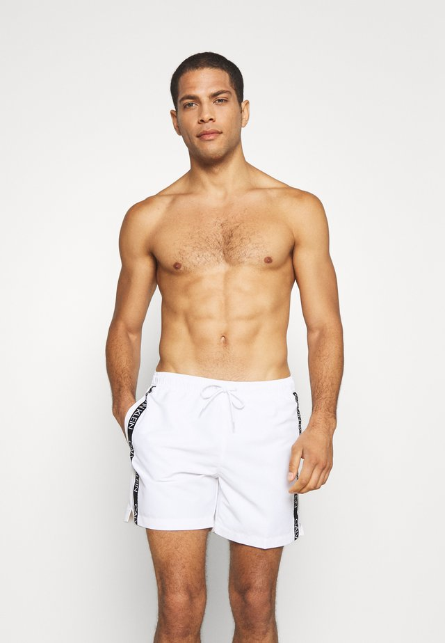 MEDIUM DRAWSTRING - Swimming shorts - white