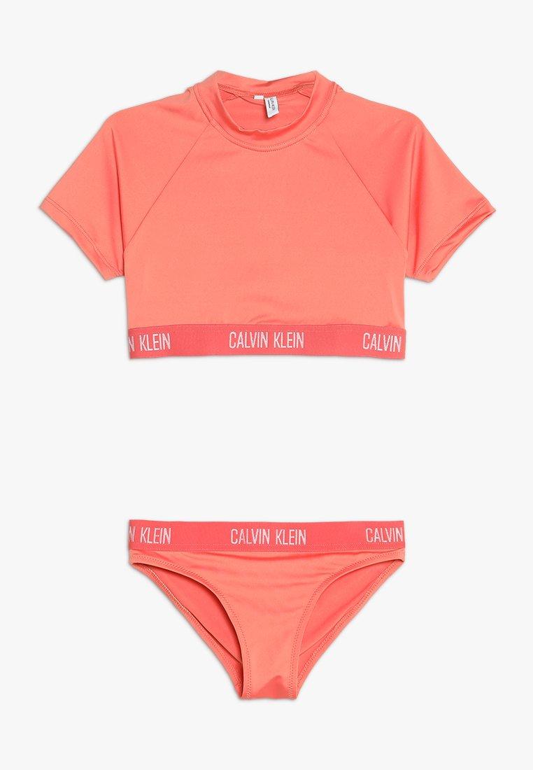 Calvin Klein Swimwear - RASHGUARD SET - Badedragter - georgia peach