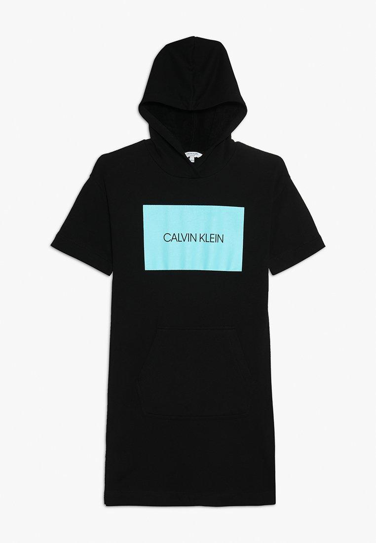 Calvin Klein Swimwear - HOODED DRESS - Strand accessories - black