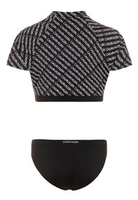 Calvin Klein Swimwear - RASHGUARD LOGO - Rash vest - black - 1