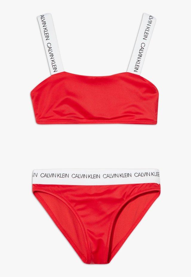 BANDEAU LOGO SET - Bikini - red
