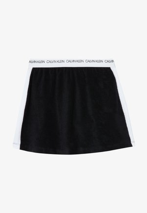 SKIRT WAVE - A-line skirt - black