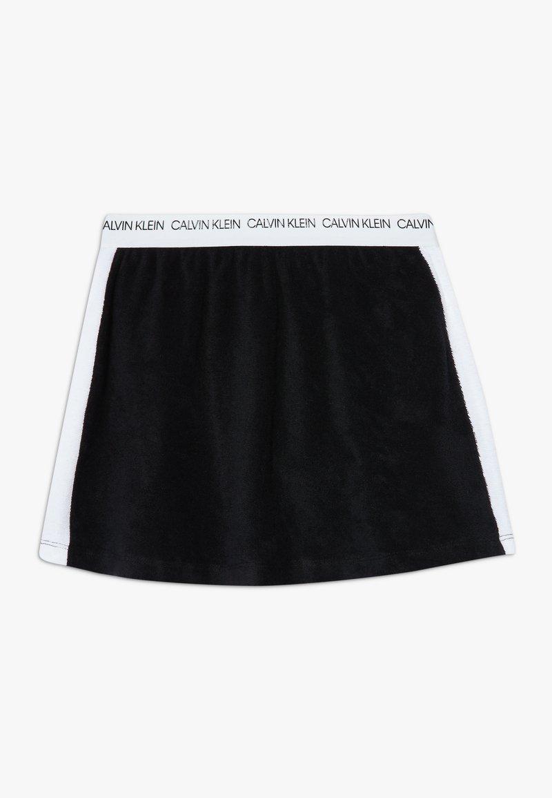 Calvin Klein Swimwear - SKIRT WAVE - Falda acampanada - black