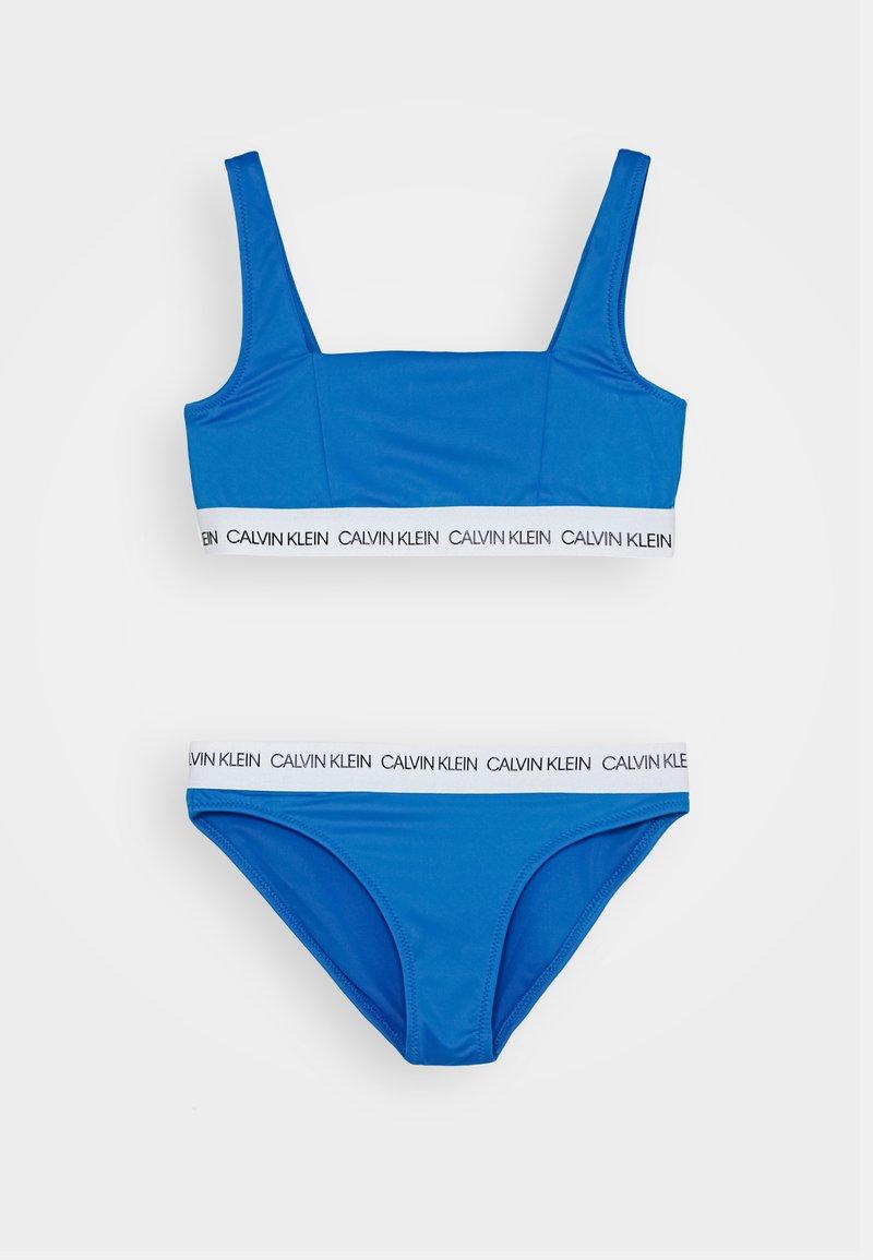 Calvin Klein Swimwear - BRALETTE SET - Bikinier - blue