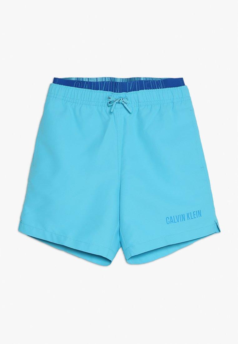Calvin Klein Swimwear - MEDIUM DOUBLE WAISTBAND - Badeshorts - bachelor button