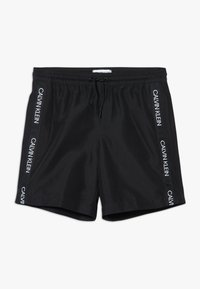 Calvin Klein Swimwear - MEDIUM DRAWSTRING LOGO - Plavky - black - 0