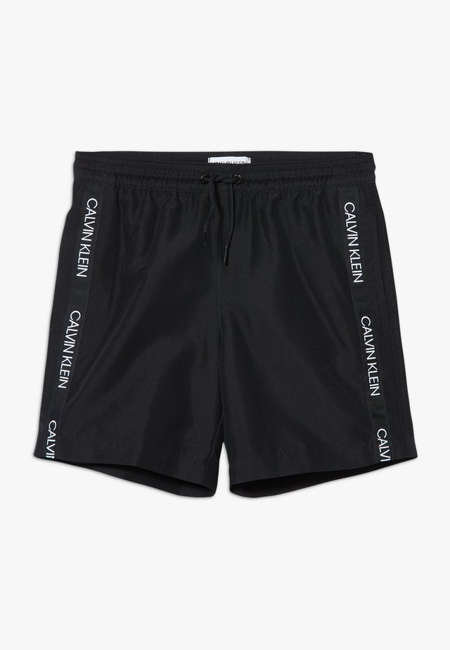 MEDIUM DRAWSTRING LOGO - Swimming shorts - black