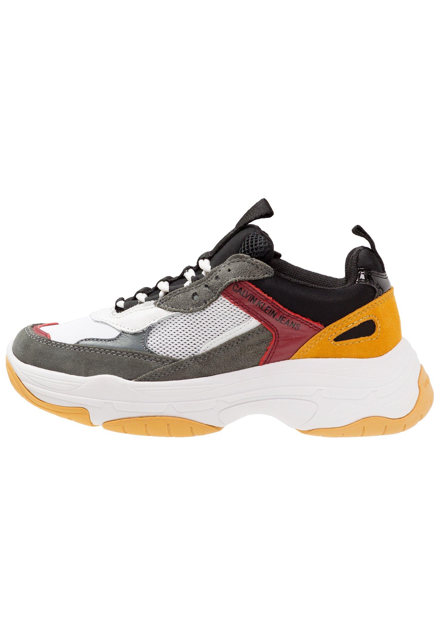 MAYA Sneakers laag whiteblackgreyrosso