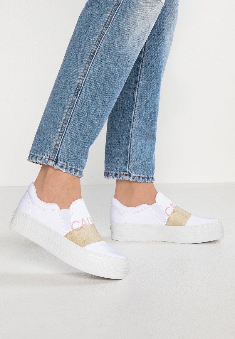 Calvin Klein Jeans - ZELMA - Slip-ins - white/gold