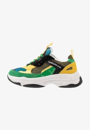 MAYA - Baskets basses - black/green/lemon