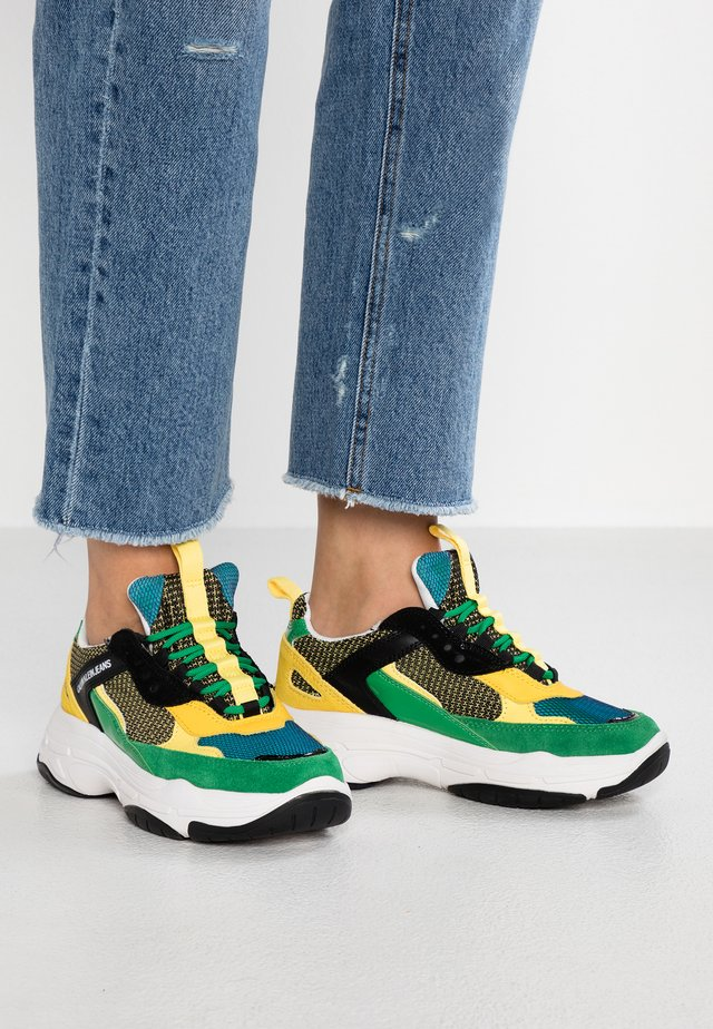 MAYA - Sneakersy niskie - black/green/lemon