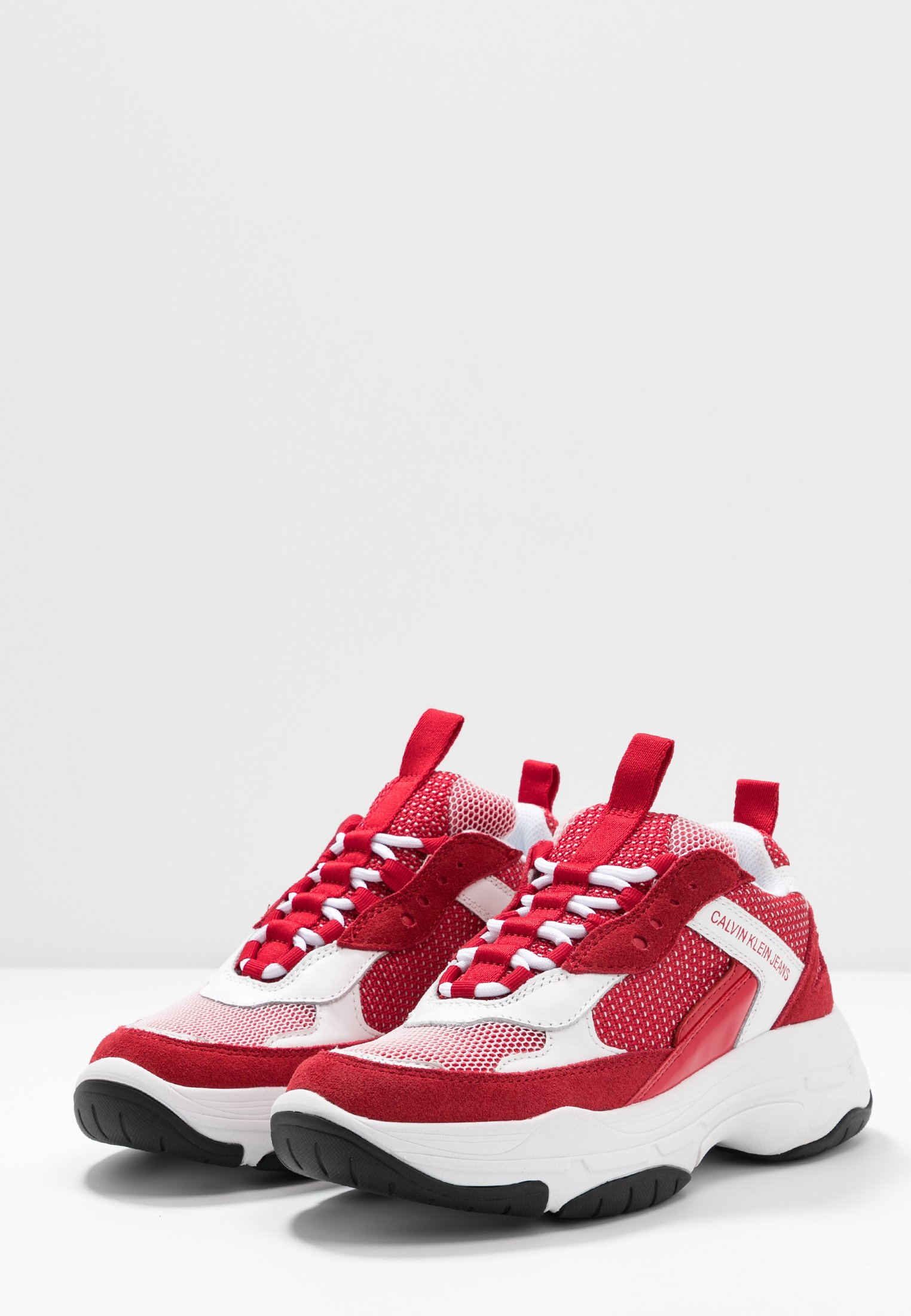 Calvin Klein Jeans MAYA - Baskets basses white/red