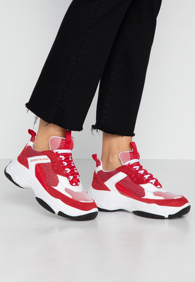Calvin Klein Jeans - MAYA - Zapatillas - white/red