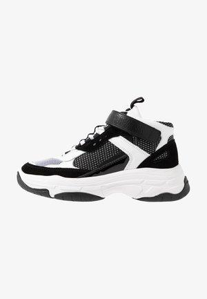 MISSIE - Baskets montantes - white/black