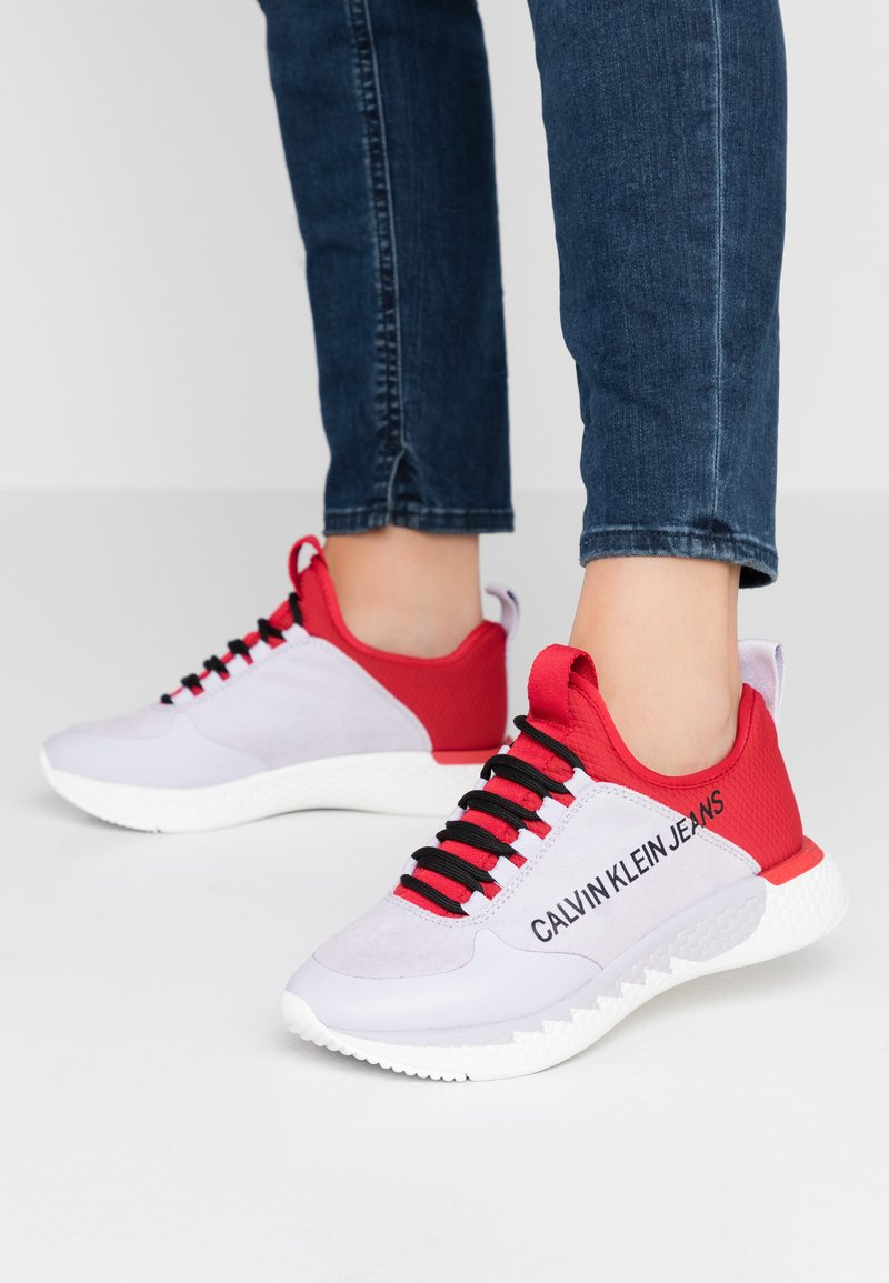Calvin Klein Jeans - ADAMINA - Trainers - lilac/racing red