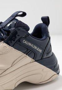 Calvin Klein Jeans - MADELIA - Zapatillas - stone/navy - 2