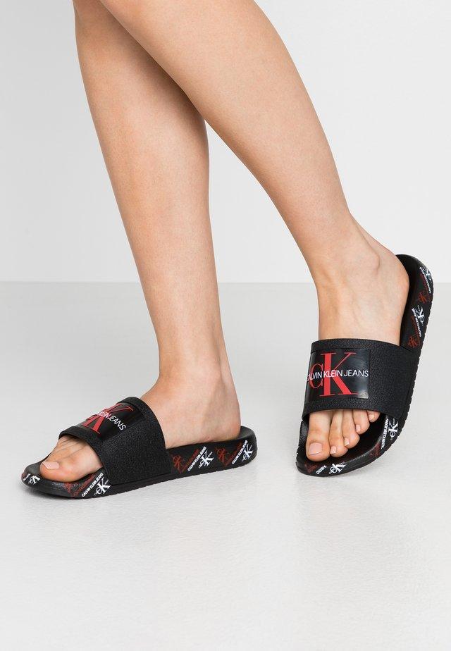CATILYN - Sandały kąpielowe - black