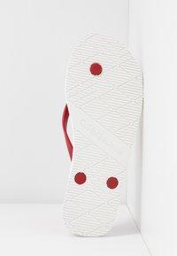 Calvin Klein Jeans - DARALYN - Badesko - white/racing red - 6