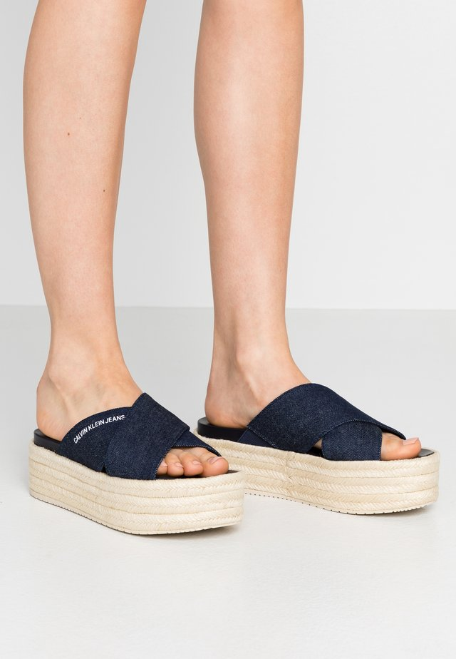 FERNANDA - Heeled mules - dark blue