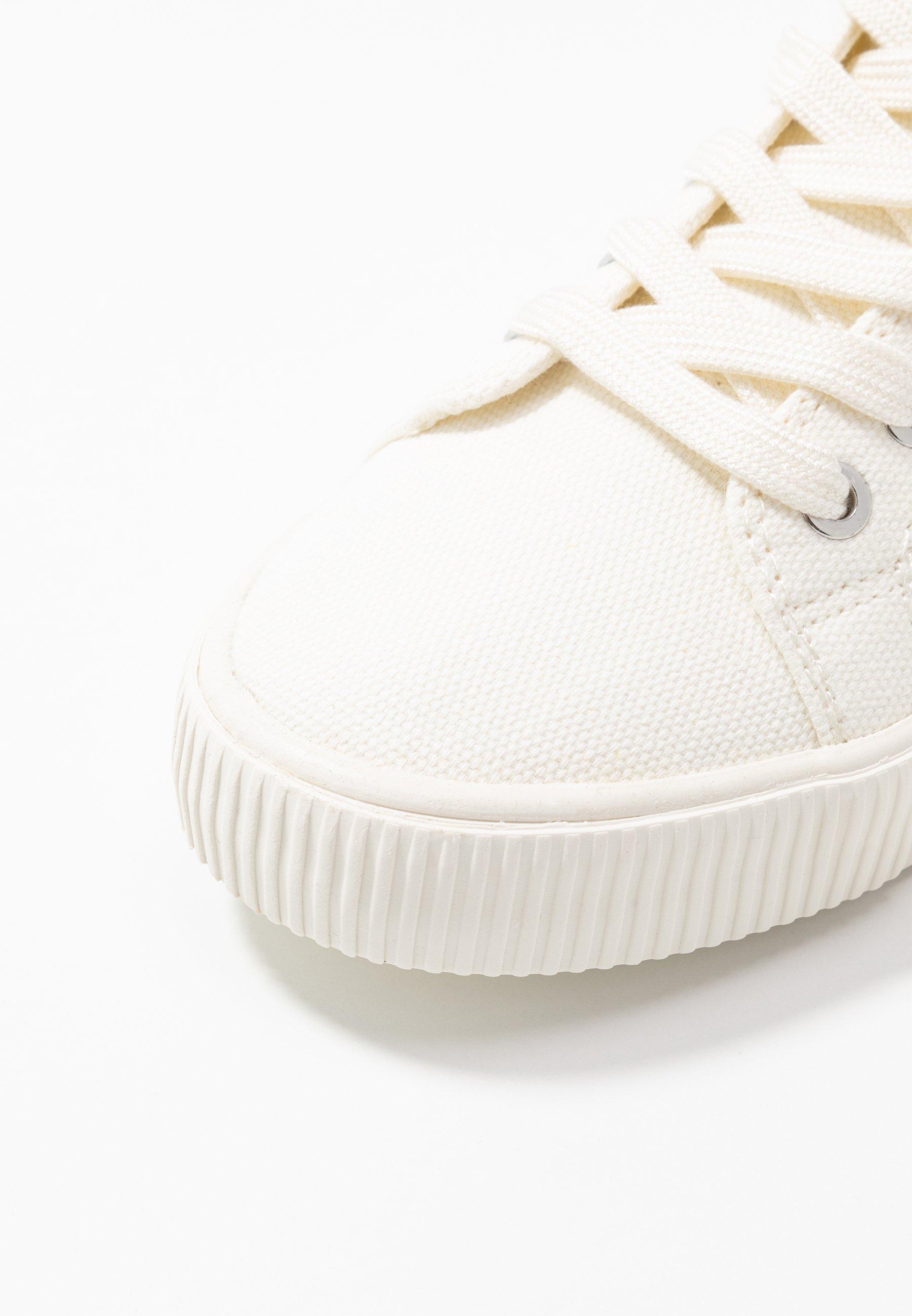 Calvin Klein Jeans DANZA - Höga sneakers - bright white